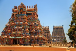 Temple of Sri Ranganathaswamy in Trichy, Tamil Nadu state, South India.