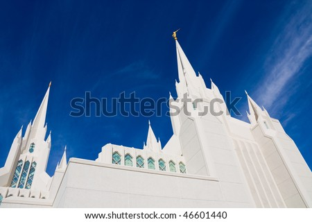 Temple of the Church of Jesus Christ of Latter-day Saints in San Diego, California - stock photo