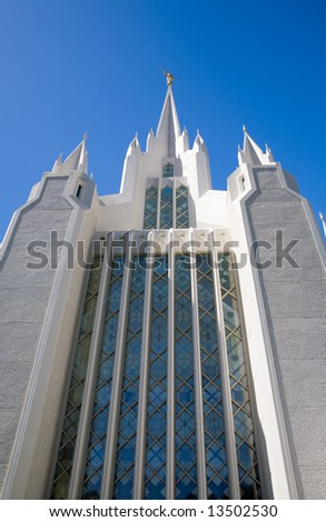 Temple of The Church of Jesus Christ of Latter-Day Saints (LDS) or Mormons in San Diego, California