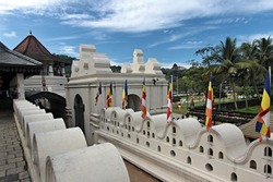 Temple of the Sacred Tooth Relic. City of Kandy. Sri Lanka. Asia.