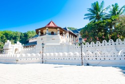 Temple Of The Sacred Tooth Relic, That Is Located In The Royal Palace Complex Of The Former Kingdom Of Kandy Sri Lanka, Which Houses The Relic Of The Tooth Of Buddha