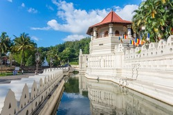 Temple of the tooth in Kandy, Sri-Lanka