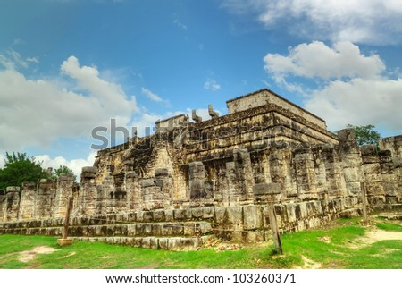 Temple of the Warriors  in Chichen Itza - Mexico