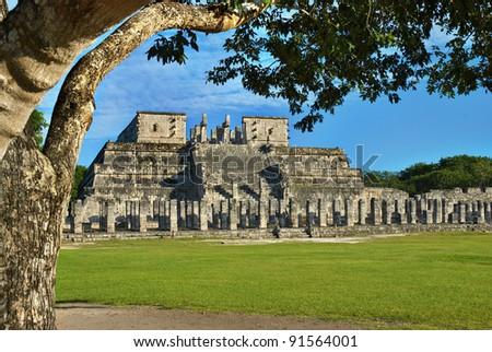 Shutterstock Temple of the Warriors in Chichen Itza, Quintana Roo, Mexico. Mayan ruins  near Cancun.