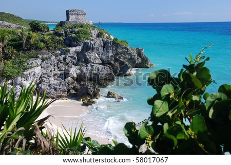 Temple of the wind in Tulum, Mexico