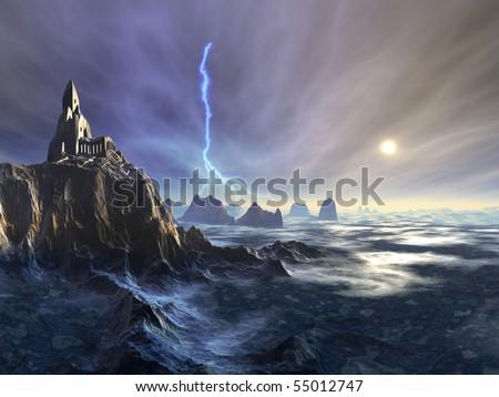 Temple Ruin on Alien Planet