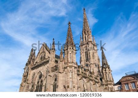 Temple Saint-Etienne of Mulhouse. Alsace, France