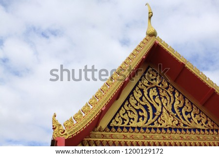 Temple , the blue sky with temple , Buddhist temple #1200129172