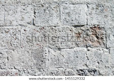 temple wall, masonry background, white stone
