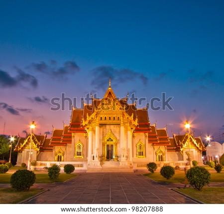 Temple(Wat Benchamabophit), Bangkok, Thailand