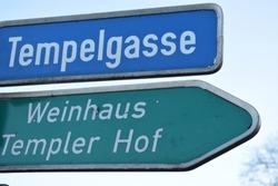 templer knights street in Bad Breisig at Rhine
