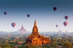 temples in Bagan, Myanmar, UNESCO World Heritage Site