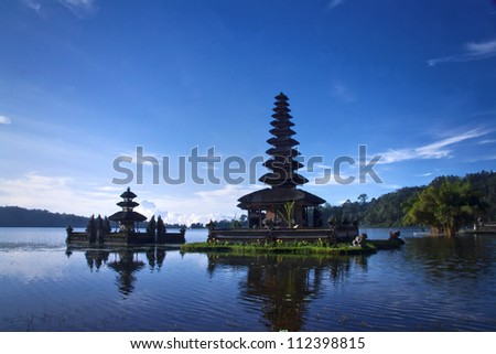 Temples in the lake of Bali Indonesia