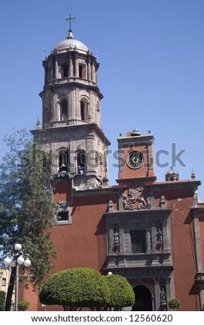 Templo de San Francisco, Church, Queretaro, Mexico from Plaza