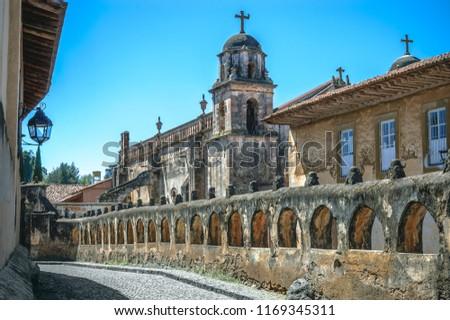 Templo del Sagrario, Mexican church in Patzcuaro, Michoacan Foto stock ©