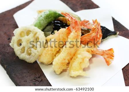 Tempura , Japanese Food - stock photo