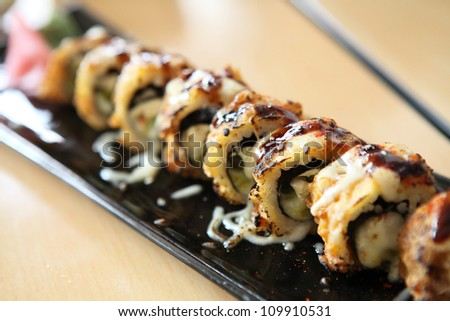 Tempura Maki Sushi with cheese