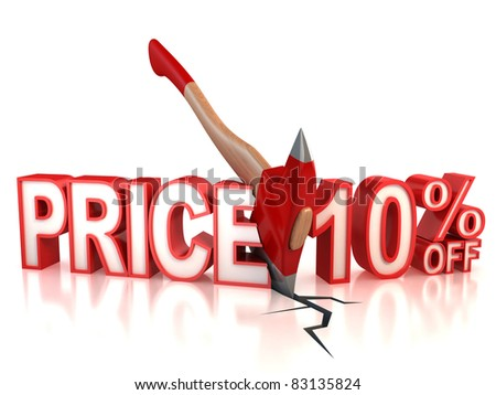 ten percent discount 3d concept