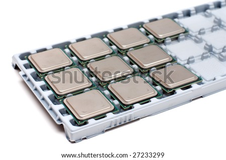 Ten processors on a special substrate