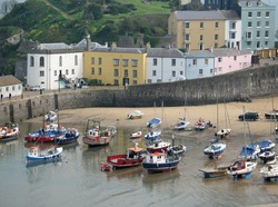 Tenby harbour, South Wales, UK