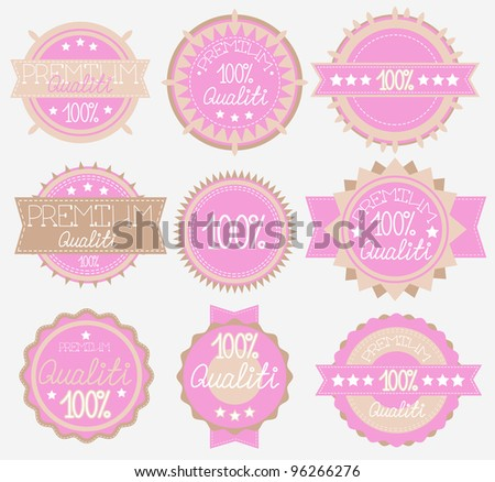 tender High Quality Labels Collection pink and light brown