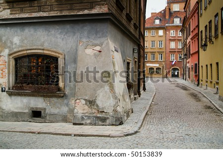 Tenement house at Warsaw's Old City