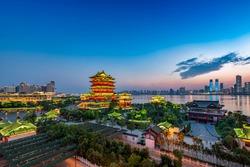 tengwang pavilion,one of Chinese famous ancient building in Nanchang,Jiangxi,China