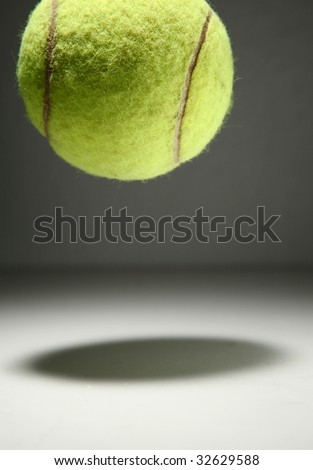 Tennis ball bouncing