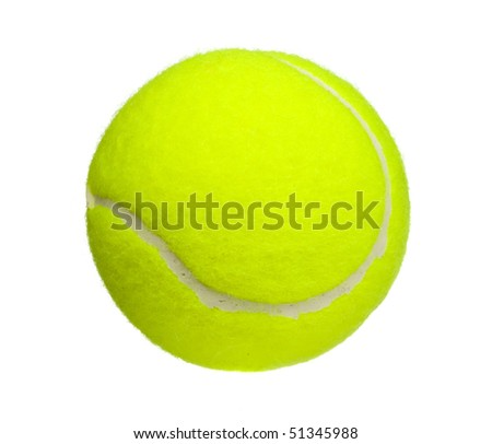 tennis ball close up isolated on white
