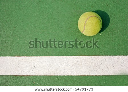 Tennis ball in the game