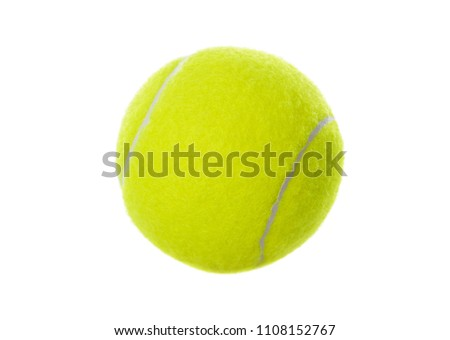 Stock Photo Tennis ball isolated on white background