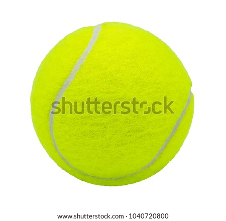 Stock Photo tennis ball isolated on white background with clipping path