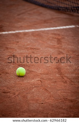 Tennis ball on the court
