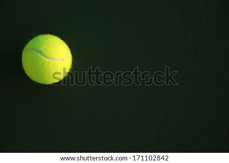 Tennis Ball on the Court with Copy Space #171102842