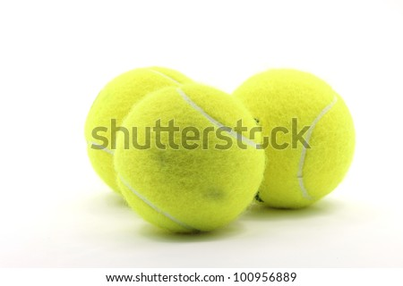 Tennis Ball Sport Equipment on White Background using as World Competition Concept