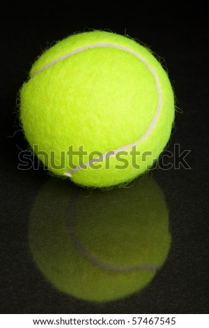 Tennis Ball with black background