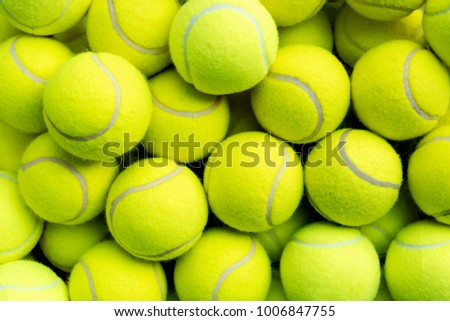 Tennis balls closeup