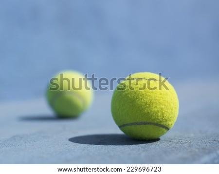 Tennis Balls on the floor