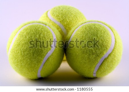 Tennis balls ready for a game
