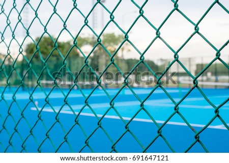 tennis court  in blurry for...