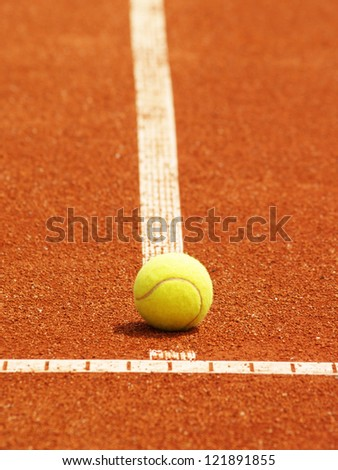 tennis court line with ball 59