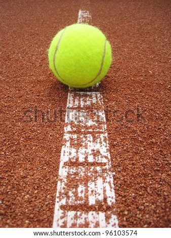 tennis court line with ball 25