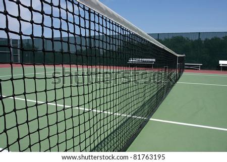 Tennis Court Net Close up