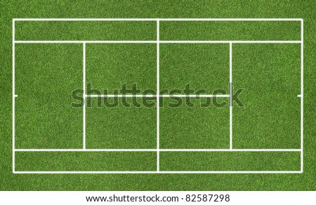 Tennis grass court