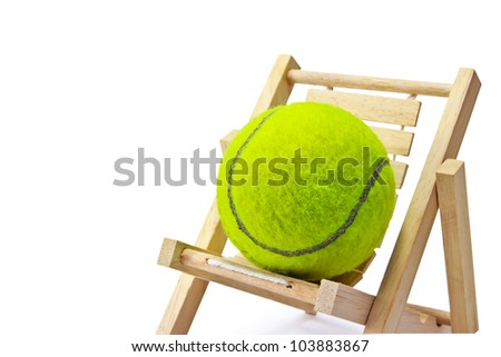 Tennis on the chair