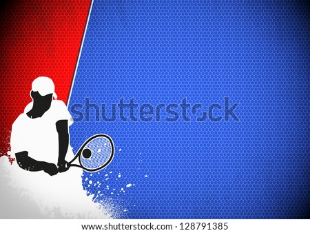Tennis or sport business poster background with space
