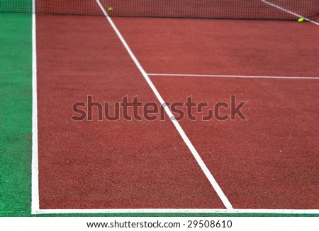 Tennis playground with depth o field. Sport concept