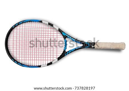 Tennis racket. - Shutterstock ID 737828197
