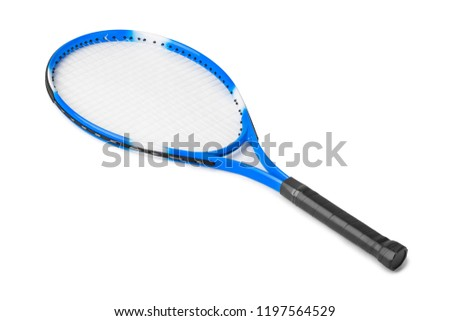 Tennis racket isolated on white background
