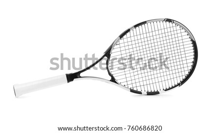 Tennis racket on white background